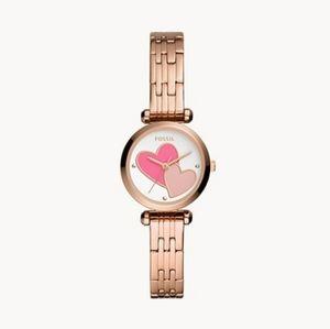 🌼 NWT Fossil mini rose gold tone watch